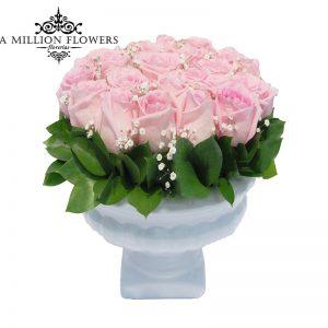 Diseño floral con rosas caricia 1