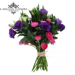 Diseño floral de lisiantus ranaculos 1 atado