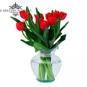 Tulipanes ojos 1 florero