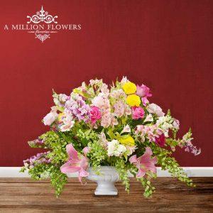 Vista frontal del Diseño floral my life